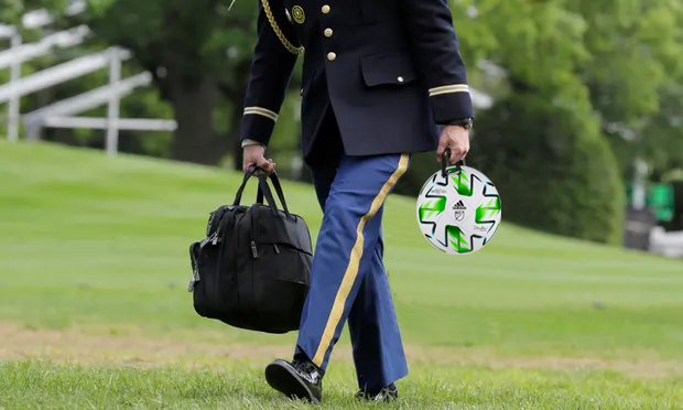 Republicans Outraged Biden Replaces 'Nuclear Football' with Soccer Ball