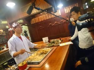 テレビ大阪「ニュースリアル」さんのオデンの取材