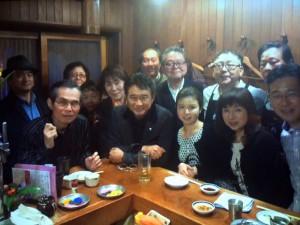 船越英一郎さん、大原千鶴さんと記念撮影です