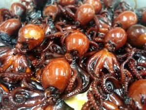 たきあがった「飯蛸の甘露煮」です
