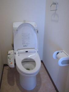 トイレは、清潔なシャワー月トイレです
