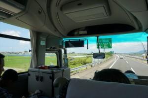 大阪からバスで長野県白馬村に向けて出発!