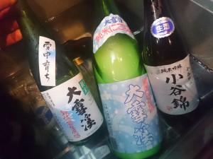 白馬村の地酒「大雪渓」「小谷錦」