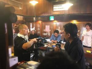 FUJIWARAのフジモンさんのドキュメント番組のロケ収録です