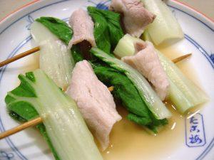 「しろ菜」の関東煮(かんとだき/おでん)