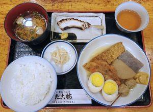 たこ梅東店(ホワイティうめだ)の「甘露煮梅定食」