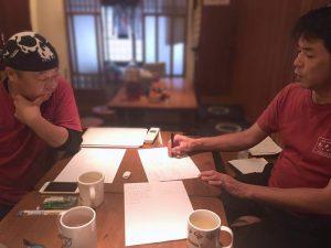 松本さんと安藤さん、お店で、相互に行動探求です