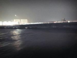 2017年10月22日午後10時頃の大和川の様子2