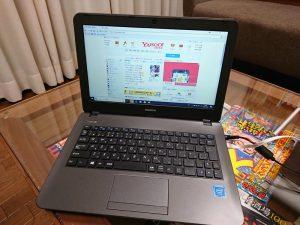 SSD480GB、メモリ8GBのノートPC