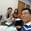 松野先生、阪田さんと5月の社内研修の打合せ