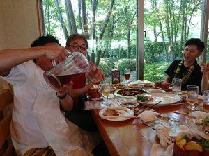 遊学旅行のお昼ご飯もビール!ビール?です