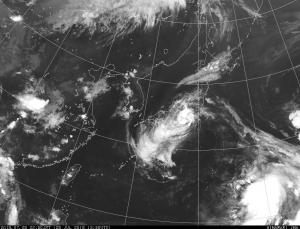 台風12号の赤外線衛星画像(気象庁より)