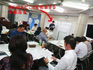 ワクワク系マーケティング実践講座で発表する安藤店長