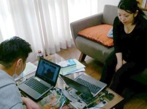 オンラインのNVC基礎講座を受講中の金田さんと深澤さん