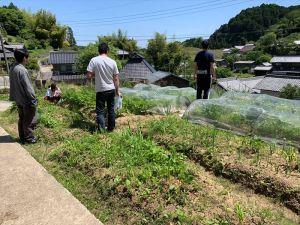 山添村の自然農法畑に到着