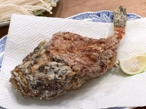 虎魚(おこぜ)の唐揚げ
