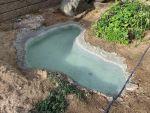 桃侍くんの粘土で作った『池』、水漏れなし!!1週間以上でも水は減っていません