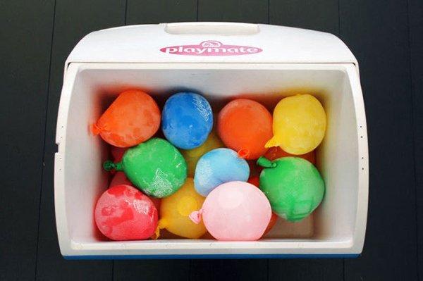 воздушные шары со льдом