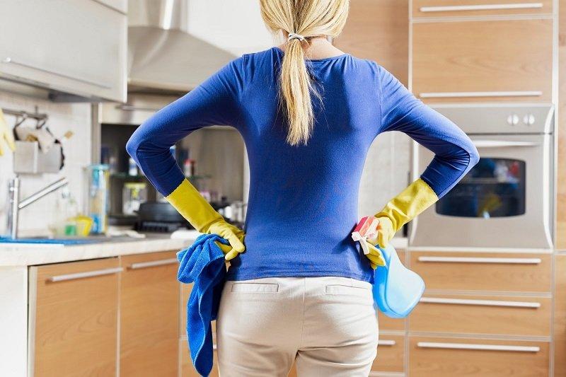 уборка кухни без химии