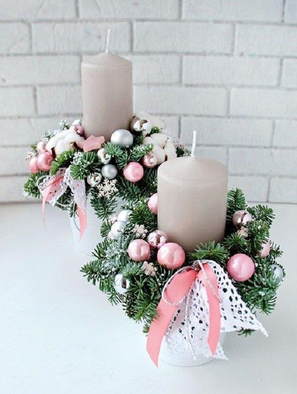 как украсить свечи в домашних условиях