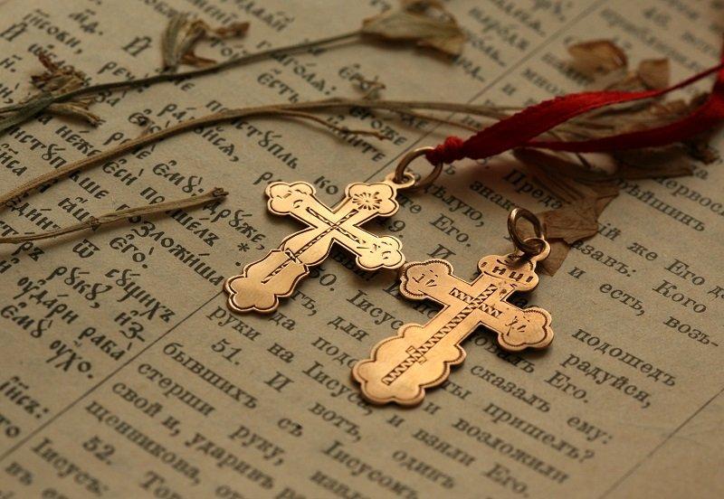 нательный крест умершего