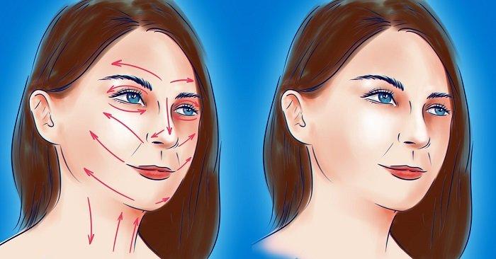 массаж лица и шеи