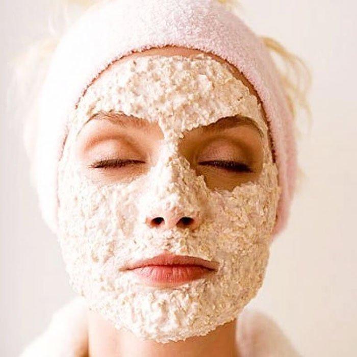 маска для лица с овсом