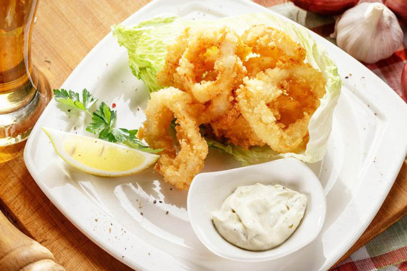 морепродукты на ужин