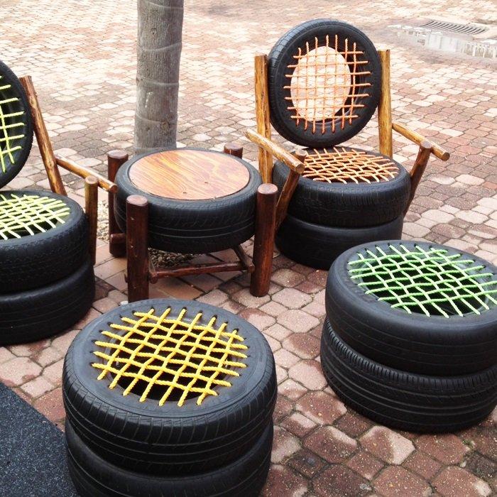 поделки из шин и колес