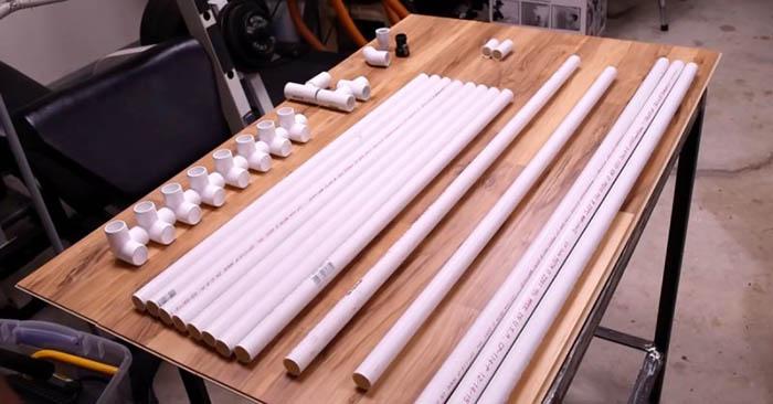 поделки из труб для дачи