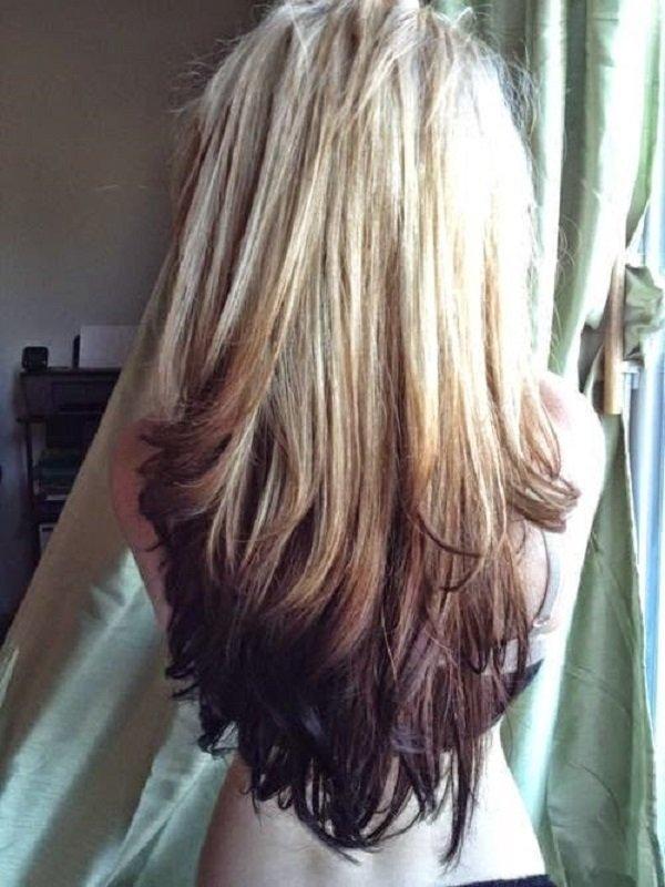 покраска волос балаяж