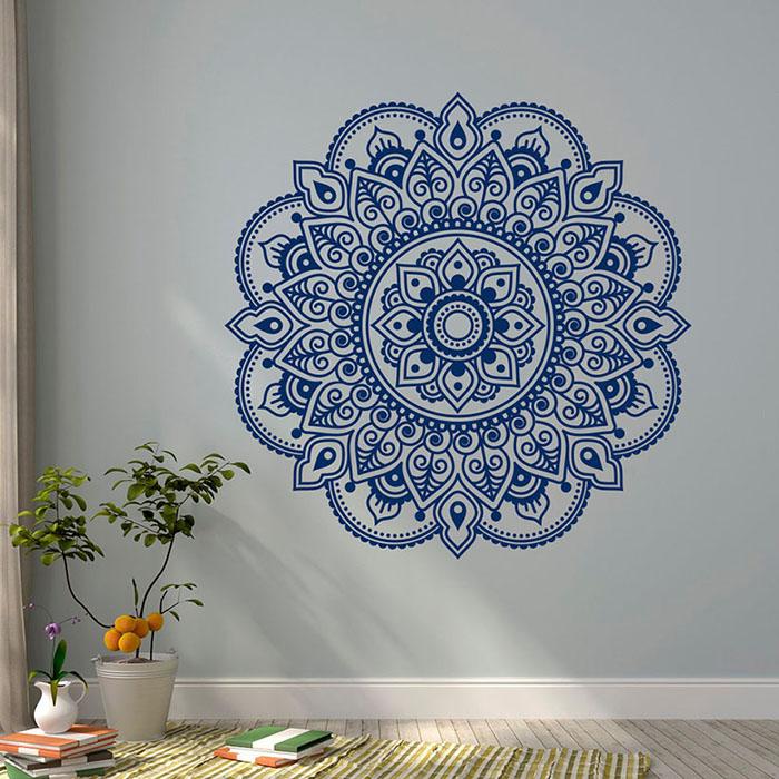 рисунок мандалы на стене