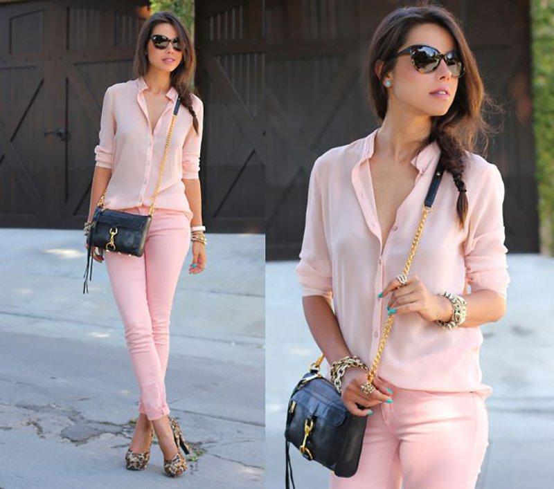 цветные брюки и джинсы