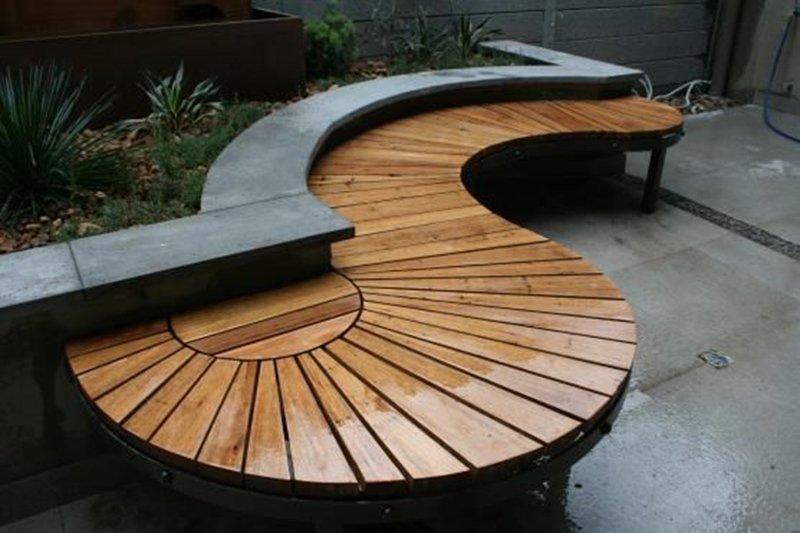 самодельная садовая мебель из дерева