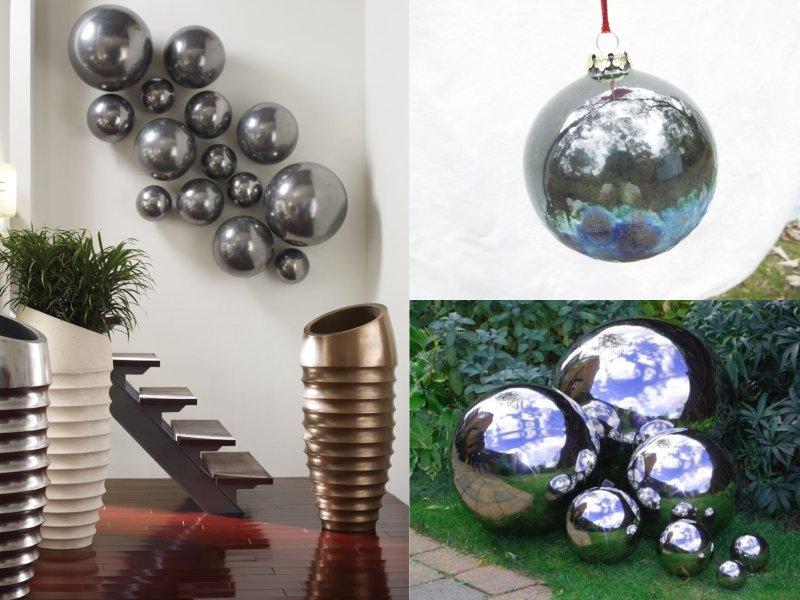новогодний шарик из фольги