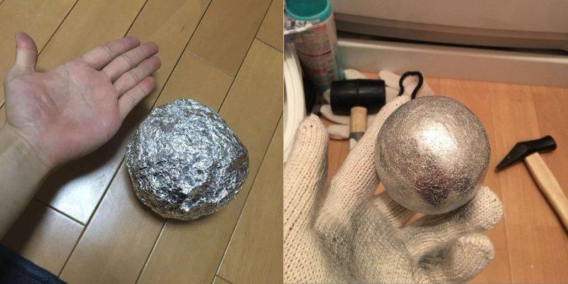 как сделать шар из фольги
