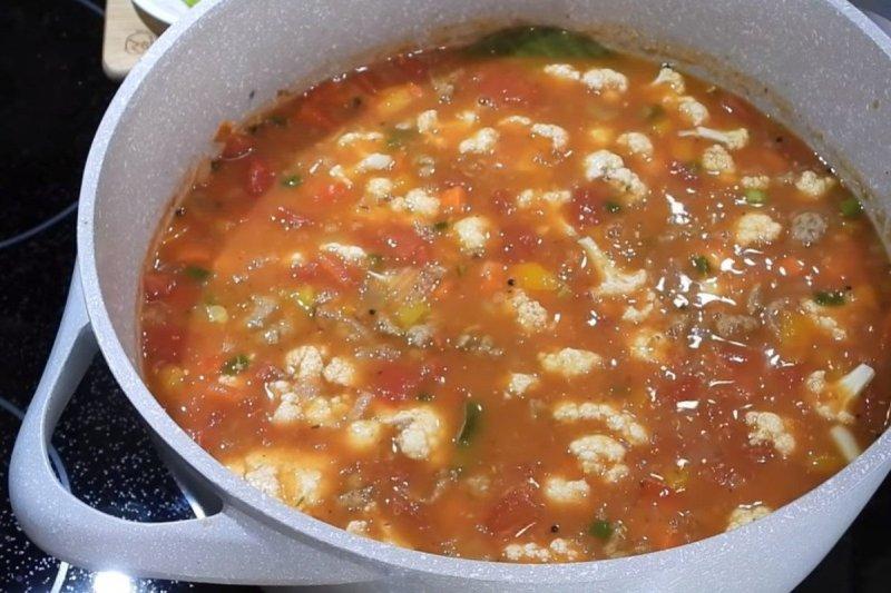 суп без картофеля с мясом