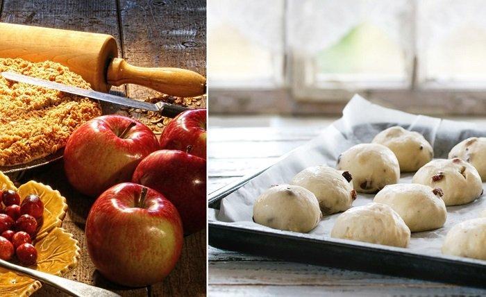 яблочные булочки