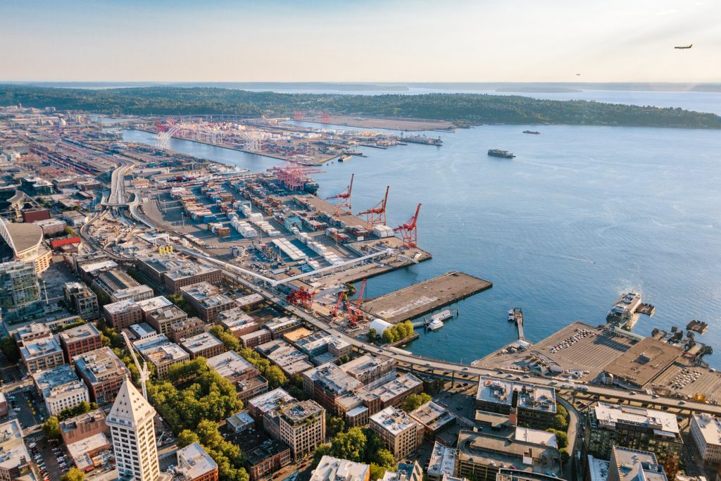 seattle aerial drone photography