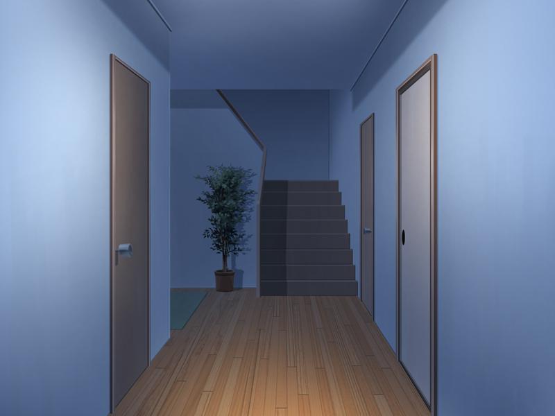 廊下 家 夜