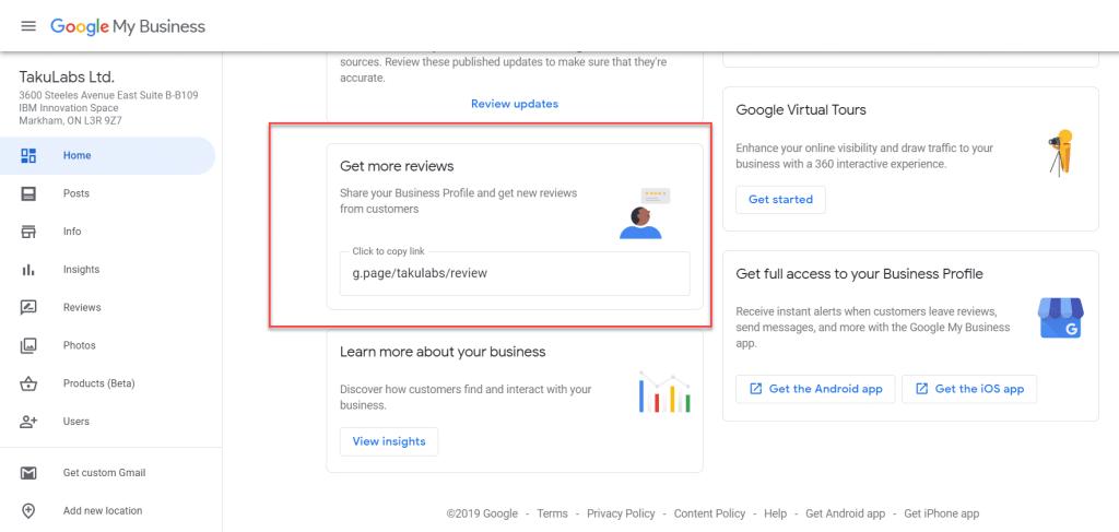 Google get more reviews