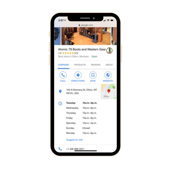 Google My Business profile