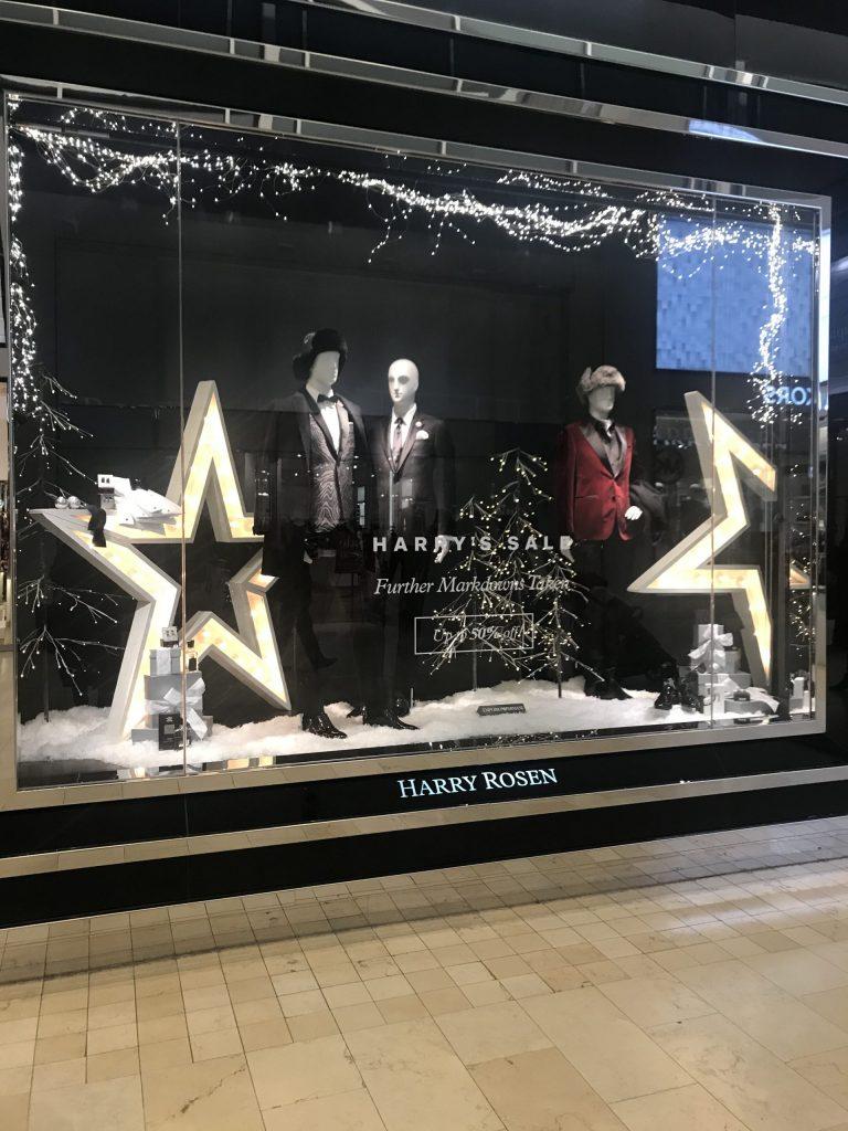 Harry Rose holiday window display