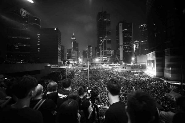 Protest Hongkong (foto: Dan Chung)