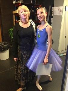 With my teacher at the Vaganova Master Classes