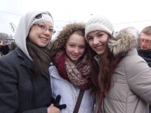 Me, Nastia & Carleigh - MAslenitsa