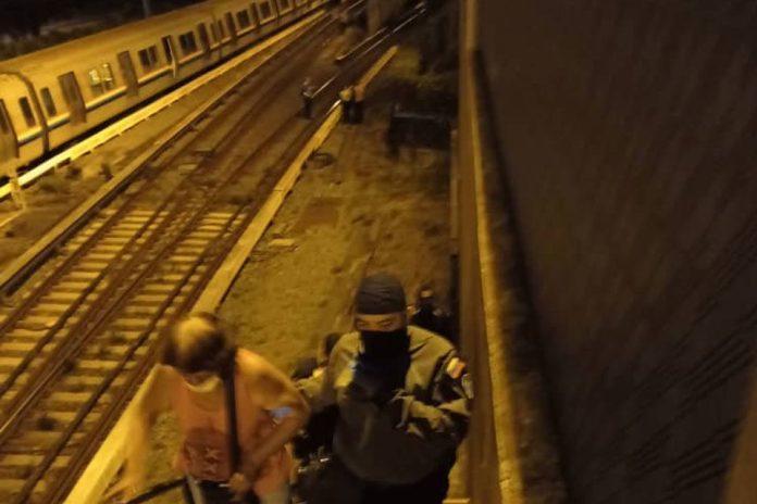 Tren del Metro de Caracas descarrilado en Caricuao