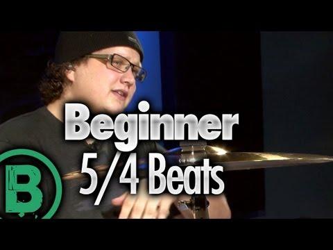 5/4 Drum Beats – Beginner Drum Lessons
