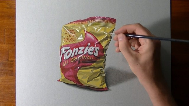 How I draw and color a chip bag