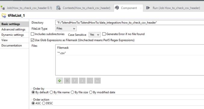 How to validate a csv header - TalendHowTo